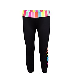 Little Girls Stripe Cropped Legging