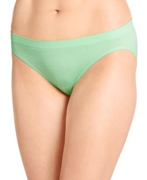 Smooth and Shine Seamfree Heathered Bikini Underwear 2186