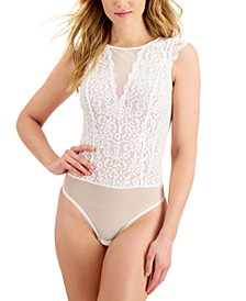 Sheer Lace High-Neck Bodysuit, Created for Macy's