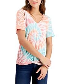 Juniors' Twist-Front Pocket T-Shirt