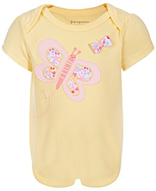Baby Girls Ditsy Butterfly Bodysuit, Created for Macy's