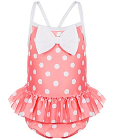 Toddler Girls Dot & Bow 1-Pc. Swimsuit, Created for Macy's