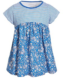 Toddler Girls Striped Floral Cotton Tunic, Created for Macy's