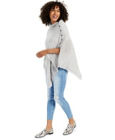 Cashmere Solid Fringe Poncho Sweater, Created for Macy's