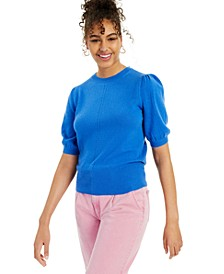 Cashmere Peggy Puff Short-Sleeve Sweater, Created for Macy's