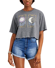 Juniors' Tarot Card Graphic-Print Cropped T-Shirt