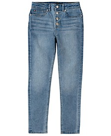 Toddler Girls High-Waisted Skinny Denim with Button Fly