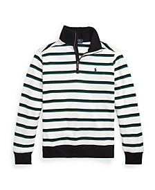 Big Boys Striped Quarter-Zip Pullover