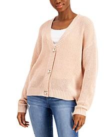 Juniors' Drop-Shoulder Cardigan Sweater