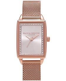 Women's Classics Rose Gold-Tone Stainless Steel Mesh Bracelet Watch 20mm