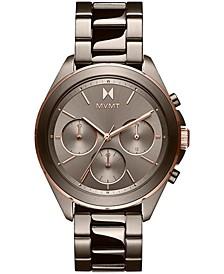 Women's Chronograph Getaway Taupe-Tone Bracelet Watch 38mm