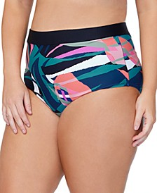 Trendy Plus Size Island Crystal Cove Printed Bikini Bottoms