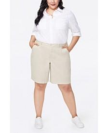 Plus Size Bermuda Shorts in Stretch Twill