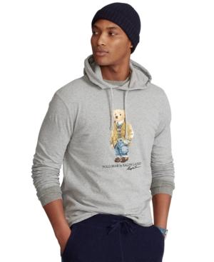 Polo Ralph Lauren T-shirts MEN'S BIG & TALL POLO BEAR JERSEY HOODED T-SHIRT