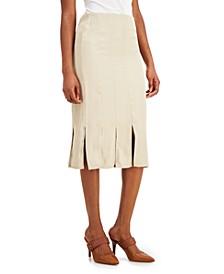 Petite Carwash-Hem Midi Skirt, Created for Macy's