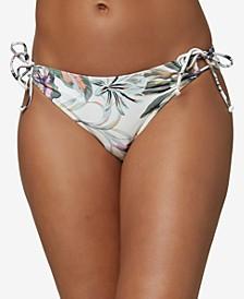Juniors' Mina Aloha Floral Tie Bikini Bottoms
