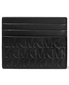 Men's Tall Embossed Leather Card Case