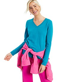 V-Neck Cashmere Sweater, In Regular and Petites, Created for Macy's