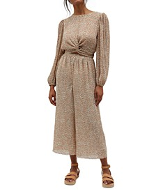 Lydia Printed Textured Culottes