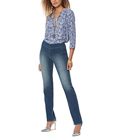 Marilyn Straight-Leg Pull-On Jeans