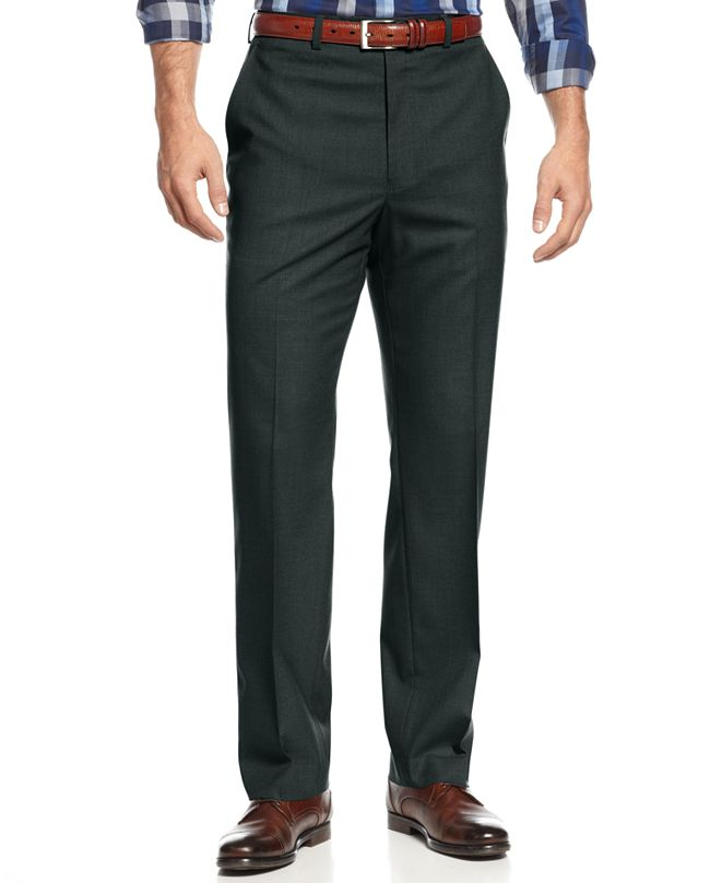 Michael Kors Michael Kors Men's Big and Tall Solid Classic-Fit Stretch Dress Pants
