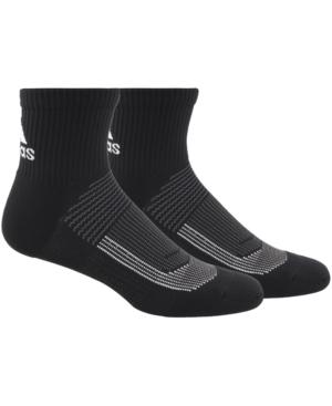 Adidas Originals ADIDAS MEN'S 2-PACK SUPERLITE II UB21 BLACK QUARTER SOCKS