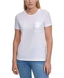Sequin-Pocket T-Shirt