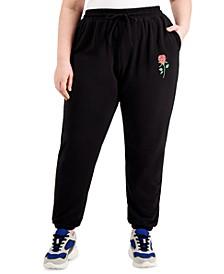Trendy Plus Size Fleece Jogger Pants