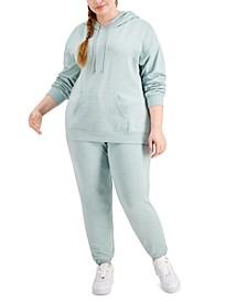 Trendy Plus Size Fleece Hoodie