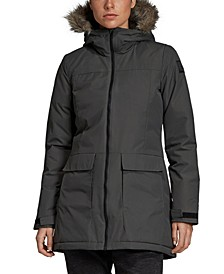 Women's Insulated Faux Fur-Trimmed Parka