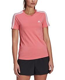 Women's Essentials Cotton 3 Stripe T-Shirt
