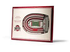 Ohio State Buckeyes 5 Layer Stadiumviews 3D Wall Art