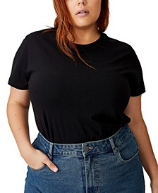 Trendy Plus Size Crew Neck T-Shirt