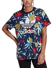Women's HER Studio London Cotton Floral-Print T-Shirt