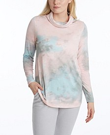 Women's Long Sleeve Cowl Top with Earloops