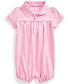 Ralph Lauren Baby Girls Interlock Bubble Shortall