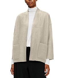 High-Collar Wool Jacket