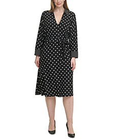 Plus Size Polka Dot Jersey Dress