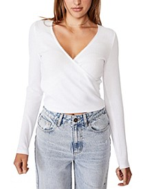 Women's Wade Wrap Long Sleeve Top