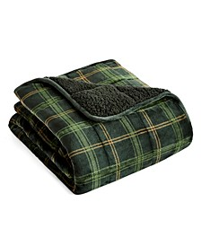 "rejuve 10lb. Velvet to Sherpa Reverse Weighted Throw Blanket, 50"" L x 60"" W"