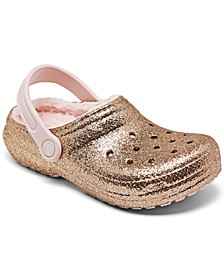 Little Girls Glitter Lined Clogs from Finish Line