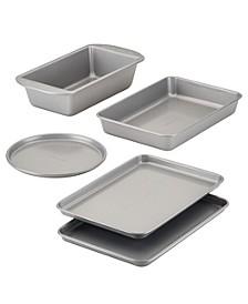 Nonstick Toaster Oven Bakeware Set, 5-Pc., Gray