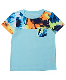 Toddler Boys Short Sleeve Tie-Dye Pocket T-shirt