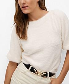 Women's Faux-Fur Textured Sweater