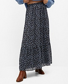 Women's Floral Print Skirt