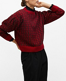 Women's Houndstooth Sweater