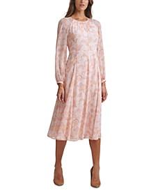 Paisley Chiffon Midi Dress