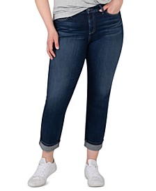 Trendy Plus Size Avery Cropped Straight Jeans