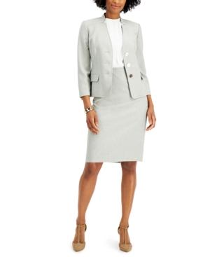 Star-Collar Skirt Suit