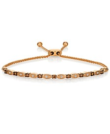 Chocolatier Chocolate Diamond® & Vanilla Diamond® Bolo Bracelet (1/2 ct. t.w.) in 14k Rose Gold